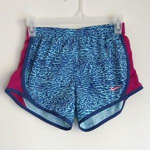 Nike blue leopard dri-fit shorts Sz M